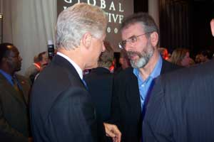 Gerry Adams MP meeting Former US President Bill Clinton