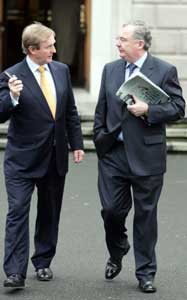 Enda Kenny and Pat Rabbitt: The opposition Pinky and Perky!