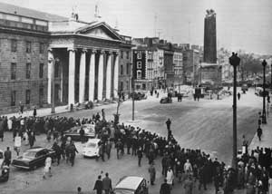 Nelson toppled off his pillar after explosion in 1966