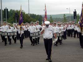 Unionist band attempt to march through nationalist area
