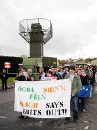 Ógra protest calls for demilitarisation