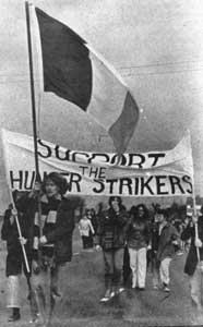 Protestors at Portlaoise during the 1970s
