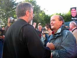Gerry Adams meets Mícheál O Seighin