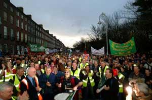 Irish Ferries protest