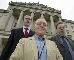 Sinn Féin's Denis Donaldson, Ciarán Kearney and William MacKessy