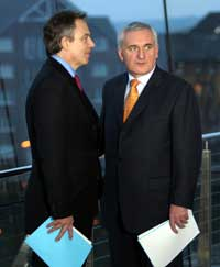 British PM Tony Blair and Taoiseach Bertie Ahern