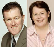Sinn Féin Newry and Armagh MP Conor Murphy and Sinn Féin Fermanagh/South Tyrone MP Michelle Gildernew
