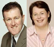 Sinn Féin Newry and Armagh MP Conor Murphy and Sinn Féin Fermanagh/South Tyrone MP Michelle Gildernew