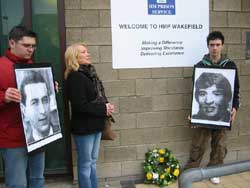 Former republican POW Roseanna Brownea addressed a commemoration outside Wakefield Prison, where Frank Stagg died