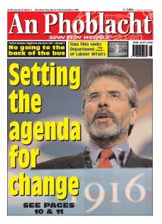 Sinn Féin President Gerry Adams