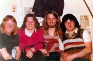 Mickey O' Donnell, Bobby Sands, Gerrard Rooney and Tomboy Loudon pictured in the Long Kesh cages