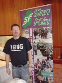 Jim McVeigh at the launch of the Hunger Strike events