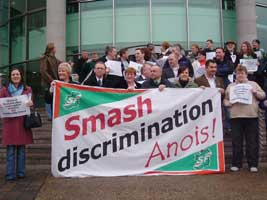 Sinn Féin protest outside Lisburn Council