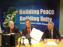 Declan Fearon, Conor Murphy and Davy Hyland