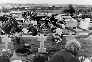 Unionist paramilitary launched an ambush on mourners