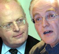 Michael McDowell and former Green Party leader John Gormley