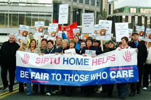 March on the Department of Health and Children as part of SIPTU's Be Fair to Those who Care campaign