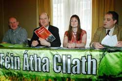 Tony McDonnell, Daithí Doolan, Joanne Spain and Aengus O Snodaigh TD