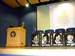 Seán Crowe addresses a Hunger Strike commemoration in Seattle