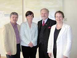• Arthur Morgan TD, Caitriona Ruane MLA, Cllr George Regan Dundee City Council and Bairbre De Brún MEP at the Dundalk conference