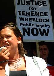 Sinn Féin MEP Mary Lou McDonald addressed the rally