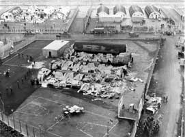 The aftermath of the burning of Long Kesh in October 1974