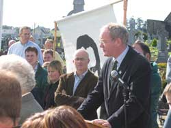 Sinn Féin Chief Negotiator Martin McGuinness who made the connection between the sacrifices of McNeela and Darcy with the Hunger Strikers of 1981