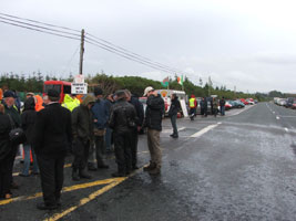 Several solidarity pickets were mounted on Tuesday evening in various parts of the country at Shell and Statoil stations