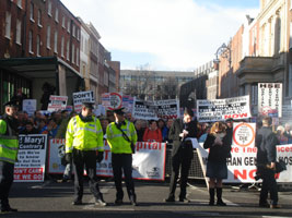 Mass demonstration at Leinster House last Tuesday