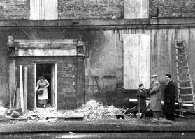 Lisnaskea Barracks after an IRA attack, December 1956