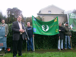 Aengus Ó Snodaigh noted the increased turnout at the commemoration since last year