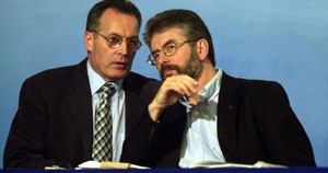 Gerry Kelly and Gerry Adams