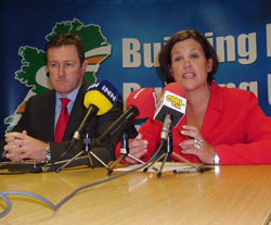 Conor Murphy and Mary Lou McDonald announced details of the public meetings in advance of the Ard Fheis on Policing