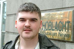 Head of Ógra Shinn Féin Barry McColgan