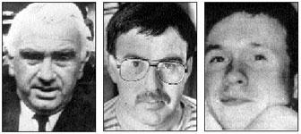 Paddy Loughran, Pat McBride and Michael O'Dwyer