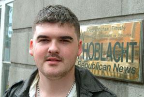 Ógra Shinn Féin National Organiser  Barry McColgan