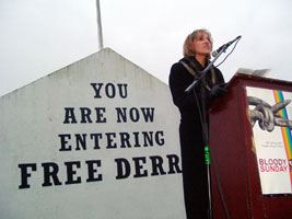 Martina Anderson speaking at the commemoration last Sunday