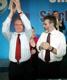 Martin McGuinness, Bairbre de Brún and Gerry Adams