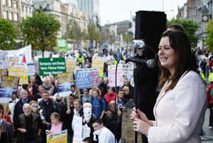 Joanne Spain chairs at Sinn Féin's National Health Rally in October