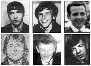 Jim Sloan, Tony Campbell, Brendan Maguire, Jim McCann, John Loughran and Ambrose Hardy