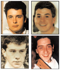 Kevin Barry O'Donnell, Peter Clancy, Patrick Vincent and Seán O'Farrell