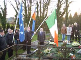 Sinn Féin candidate Francie Molloy speaking the commemoration, Clonoe, outside Coalisland, County Tyrone