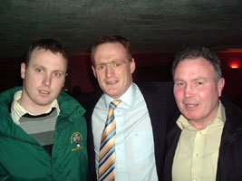 Gary O'Brien and Mylie O'Brien, the brother and father of Vol Ed O'Brien with Wexford senior all Ireland winning hurler Dave Guiney at Saturday's event