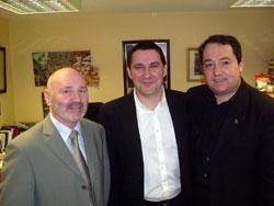 Sinn Féin's Alex Maskey with Arnaldo Otegi and Pernando Barrena