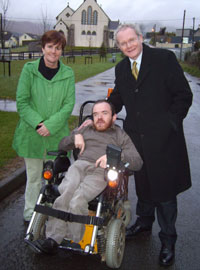Caitriona Ruane, Martin McGuinness and Seán McGinn canvassing in Attical, South Down