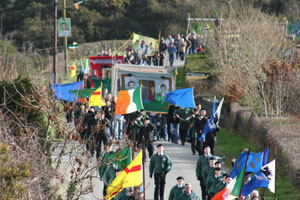 A section of the large crowd at the 19th annual commemoration of IRA Volunteers Brendan Burns and Brendan Moley