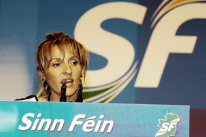 Martina Anderson opening the 2007 Ard Fheis