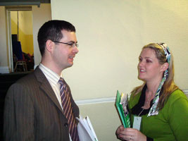 Pearse Doherty and Toiréasa Ferris