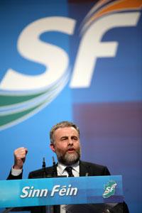 SIPTU President Jack O'Connor addressing the Ard Fheis