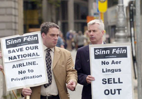 Sinn Féin TDs Aengus Ó Snaoaigh and Seán Crowe